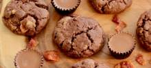 chocolate, peanut butter, and bacon cookies