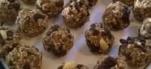 chocolate peanut raisin bites