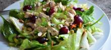 chopped turkey salad with grapes