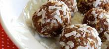 coconut-apricot truffles