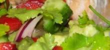 Cool Cucumber and Avocado Salad