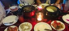 coq au vin broth fondue