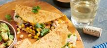 corn and shrimp quesadillas