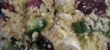 Couscous, Cranberry, and  Feta Salad