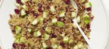 Cranberry Apple Pecan Quinoa Salad