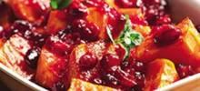 Cranberry Orange Sauced Sweet Potatoes