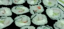 cream cheese and crab sushi rolls