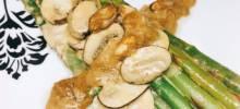 creamed asparagus