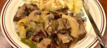 Creamy Beef Tips with Mushrooms