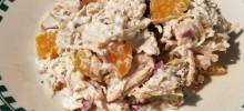 Creamy Chicken Salad with Peaches