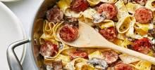 creamy pasta toss with smoked sausage