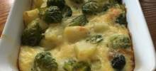 Creamy Potato-Brussels Sprouts Casserole