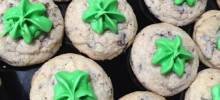 Creme de Menthe Chocolate Chip Cookies