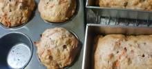 Dark Carrot Raisin Muffins