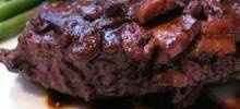 Easy Flat ron Steak in Wine Sauce