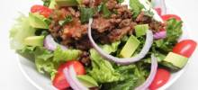 easy keto taco salad bowl for 2