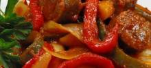 Easy Sausage, Peppers and Onions with Elbows