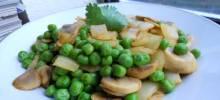 ed's secret pea and mushroom salad