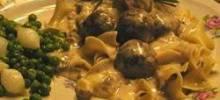 Elegant Stroganoff Meatballs