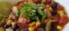 fifteen minute chicken chili
