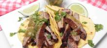flank steak tacos with mango-avocado salsa