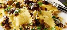 Four Cheese Ravioli with Eggplant and Marjoram Pesto