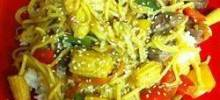 Fresh Vegetable Stir-Fry with Peppery Orange Beef