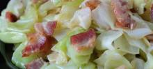Fried rish Cabbage with Bacon