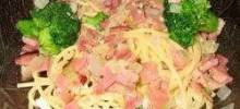 Garlic and Ham Spaghetti