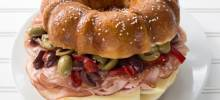 giant bundt® muffuletta sandwich