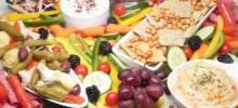 greek-nspired snack board