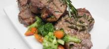 Grilled Leg of Lamb Steaks
