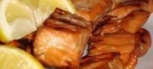 grilled salmon skewers