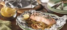 Grilled Salmon Supper in Foil