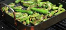 grilled sesame-soy shishito peppers