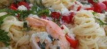 grilled shrimp caprese