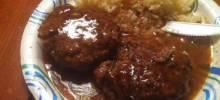 Hamburgers with Mushroom Gravy