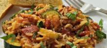 Harvest Tomato-Basil Rice with Pancetta