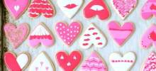 Heart Cookies Decorated with Royal cing