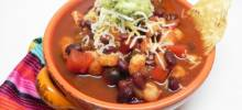 hearty vegetarian enchilada soup
