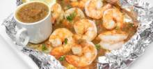 jamaican jerk shrimp in foil