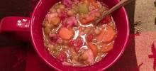 Jana's Pressure Cooker Lentil Ham Soup