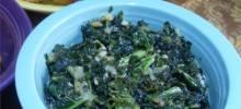kale with kiwi