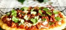 keto fathead pizza with chorizo and salsa
