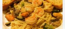 Lemon Pepper Pasta Seafood