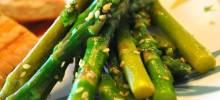 lemon-sesame asparagus