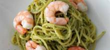 Light Shrimp and Pesto Pasta
