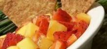 mango-strawberry salsa