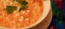 mexican rice soup (sopa aguada de arroz)