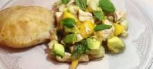 Minty Peach Chicken Salad